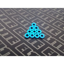 Arandelas Azul pack 1mm x 10