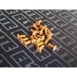 Pack Gold tornilleria boton M3 6/8/10/12 80pcs